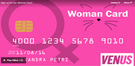 Sign up for the 'Woman Card'