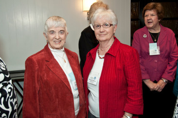 Midland Branch members June Turley and Pauline Pittsley pose at 2013 State Convention